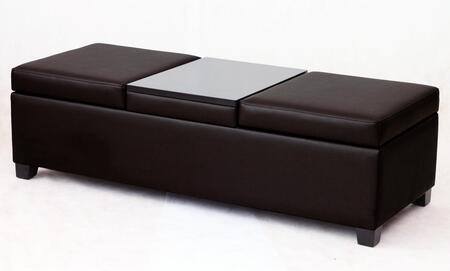 Corner II LTD P7026 Modern Bonded Leather Ottoman