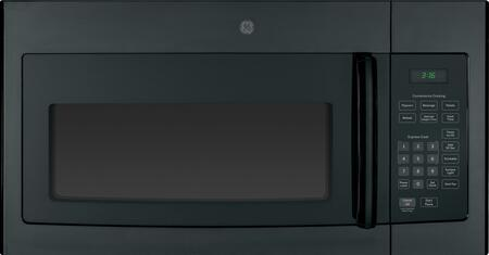 GE JVM3160DFBB 1.6 cu. ft. Black Over the Range Microwave Oven with 1000 Cooking Watts, 10 Power Levels