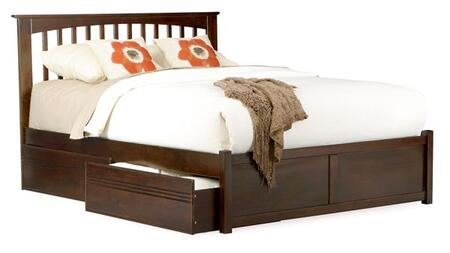 Atlantic Furniture BROOKLYNFPFFULLAW Brooklyn Series  Full Size Bed