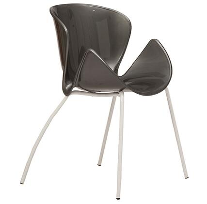 ITALMODERN L3695ANT Bloom Series Modern Not Upholstered Metal and Plastic Frame Dining Room Chair