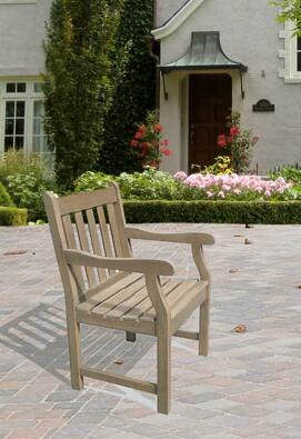 Vifah V1279  Wood Frame  Patio Arm Chair