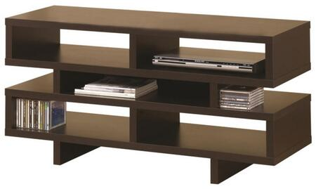 "Coaster TV Stands 47.25"" TV Console with Crisp Geometric Design and Open Storage"
