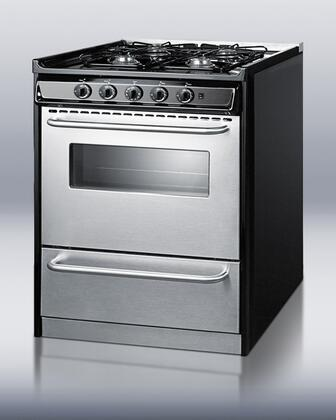 """Summit TNM21027BFRWY 30"""" Professional Series Slide-in Gas Range with Sealed Burner Cooktop Broiler 3.7 cu. ft. Primary Oven Capacity"""