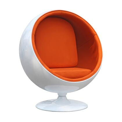 Fine Mod Imports FMI1150ORANGE Ball Series Lounge/Armchair Fabric: 100% Wool Fiberglass Frame Accent Chair