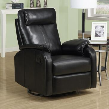 Monarch I 8081 Swivel Rocker Recliner, with Padded Head Rest, and Bonded Leather Upholstery