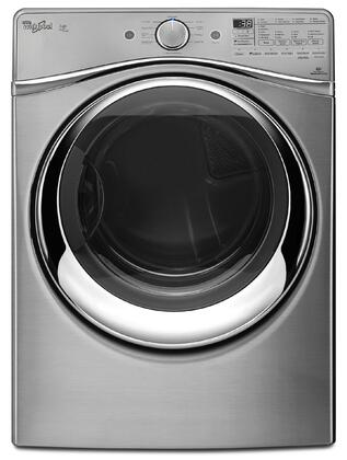 """Whirlpool WGD97HEDx Duet 27"""" 7.4 cu. ft. Steam Dryer with SilentSteel Dryer Drum, Tap Touch Controls with Memory, Quad Baffles, Steam Refresh Cycle and Advanced Moisture Sensing System in"""
