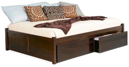 Atlantic Furniture CONCORDFPFTWINES Concord Series  Twin Size Bed