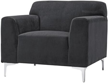 Glory Furniture G331C Velvet Armchair in Black