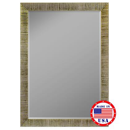 Hitchcock Butterfield 81280X 2nd Look Textured Silver Ribbed Framed Wall Mirror