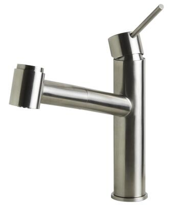 Alfi AB2203-X Kitchen Faucet with Pull-Out Spray, Stainless Steel and User Friendly Deck-Mount Installation in