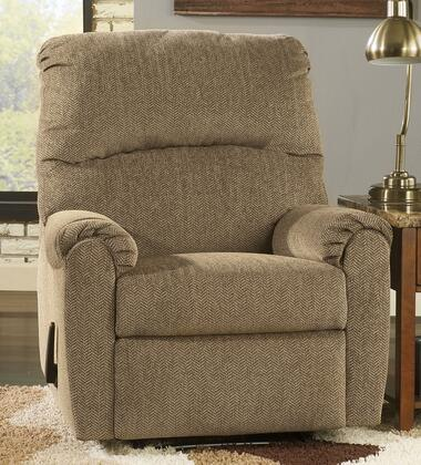 Signature Design by Ashley Pranit 1610X29 Zero Wall Recliner with Rich Herringbone Chenille Upholstery, Padded Arms and Divided Back in