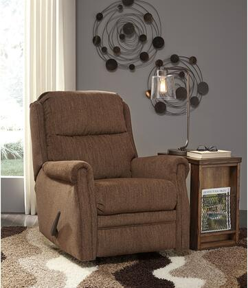 "Flash Furniture Signature Design by Ashley Earles 31"" Rocker Recliner with Plush Pillow Back, Metal Frame, Plush Upholstered Arms, Lever Recliner and Fabric Upholstery in"