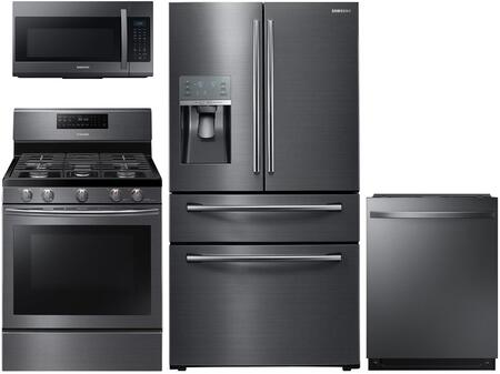 Samsung 602411 Black Stainless Steel Kitchen Appliance Packa