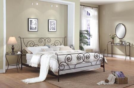 Chintaly 511BEDKG 511 Series  California King Size Panel Bed