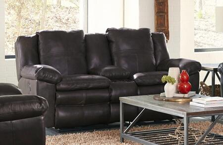 Catnapper 4199128309308309 Aria Series Leather Reclining with Metal Frame Loveseat