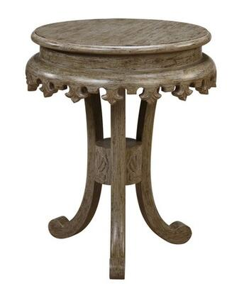 Gail's Accents 30003LT Shefield Series Traditional Round End Table