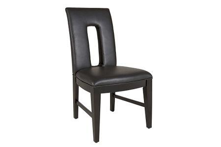 Broyhill 4444583 Perspectives Series Transitional Leather Wood Frame Dining Room Chair
