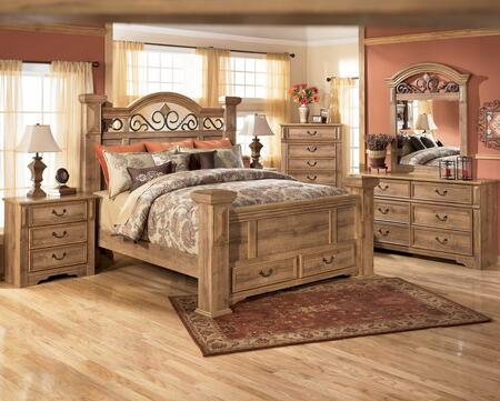 Signature Design by Ashley B17066S689970 Whimbrel Forge Series  King Size Poster Bed