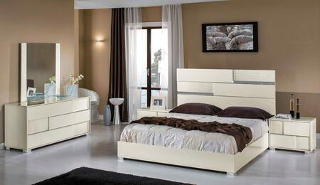 VIG Furniture VGACANCONASETWHTCK Modrest Ancona Series 5 Piece Bedroom Set