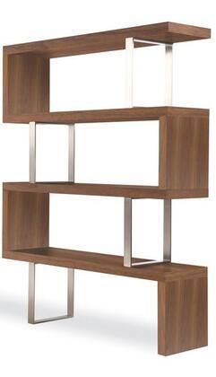 Modloft MD105WAL  4 Shelves Bookcase