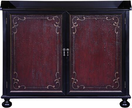 HomeFare DSP020000-2-21 Bar Cabinet with Two Doors and Two Adjustable Shelves in
