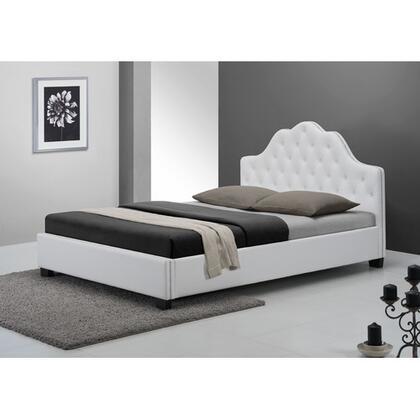 DG Casa 2410QWHT  Queen Size Platform Bed