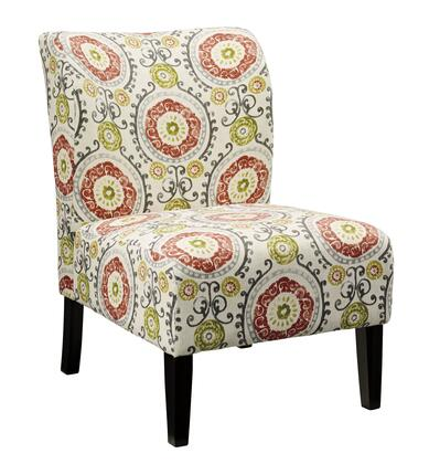 Milo Italia Ashlee MI-8884TMP Accent Chair with Patterned Fabric Upholstery, Removable Front Legs and Clean Contemporary Design in