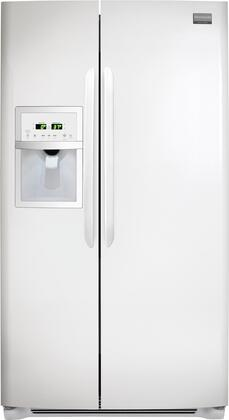 Frigidaire FGUS2632LP Gallery Series Side by Side Refrigerator with 26 cu. ft. Capacity in White