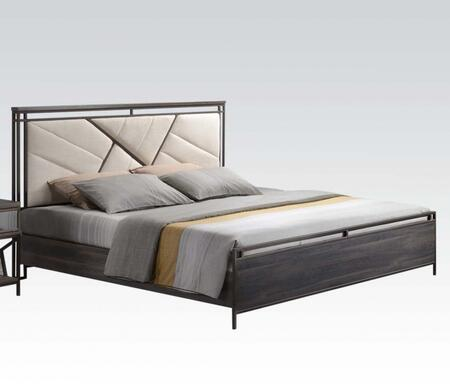 Acme Furniture 20950Q Adrianna Series  Queen Size Panel Bed