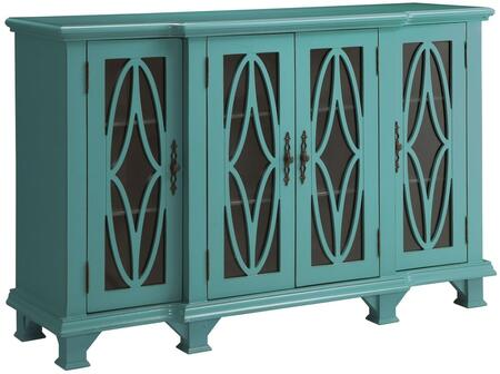 """Coaster Accent Cabinets 95025 60"""" Large Cabinet with 4 Glass Doors, 6 Shelves, Decorative Metal Hardware and Wood Construction in Color"""