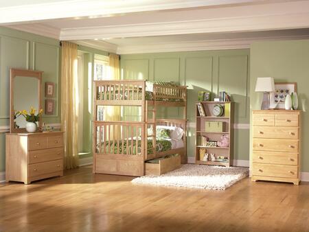 Atlantic Furniture YBBCOLUMBIATWINTWINALNM Columbia Series  Twin Size Bunk Bed