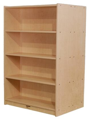 "Mahar M48DCASE 48"" Double Sided Book Case in Maple Finish with Edge Color"