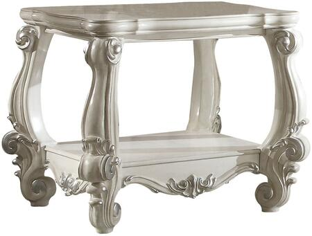 Acme Furniture 82124 Versailles Series Traditional Wood Square None Drawers End Table