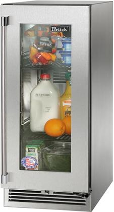 "Perlick HP15RS33R 15"" Signature Series Compact Refrigerator with 2.8 cu. ft. Capacity in Stainless Steel"