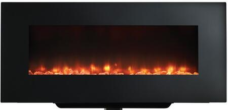 Majestic SFWMXXXBK SimpliFire Wall Mount Linear Electric Fireplace with Clean, Flat Face, and Fixed Glass, Up to 4,800 BTUs, 14 Color LED Backlighting, UL/ULC Listed