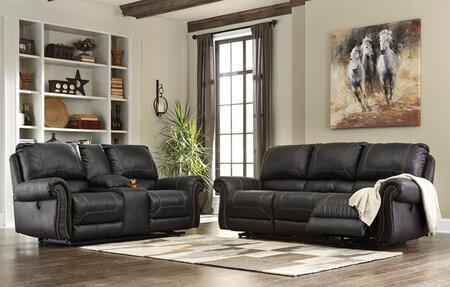Milo Italia MI257387SLBLAC Josiah Living Room Sets
