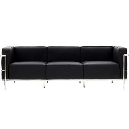 Modway EEI567BLK Le Corbusier LC3 Series Stationary Leather Sofa