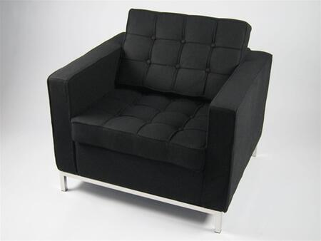 Fine Mod Imports FMI2214-1 Button Arm Chair In Wool: