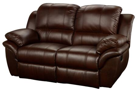 "New Classic Home Furnishings 22-203-22- Cabo 69"" Dual Recliner Loveseat with Power Recline, Contemporary Design, Bonded Leather Match, Hardwood Frame, Sinuous Spring ""No Sag"" Support, and Memory Foam Topper, in"