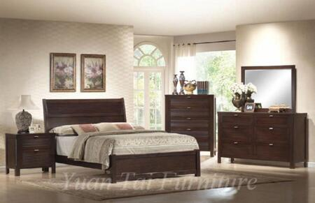 Yuan Tai AM7900 Amherst Bed in Espresso Finish