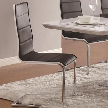 Coaster 120948 Broderick Series Contemporary Vinyl Metal Frame Dining Room Chair