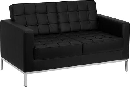 "Flash Furniture HERCULES Lacey Series ZB-LACEY-831-2-LS-XX-GG 57"" Loveseat with LeatherSoft Upholstery, Foam Filled Cushions and Stainless Steel Legs in"