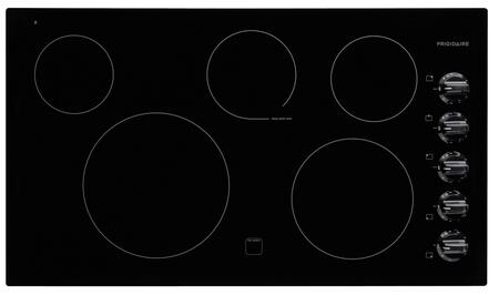 """Frigidaire FFEC3625L 36"""" Smoothtop Electric Cooktop With 5 Burners, Hot Surface Indicator Light, Spill Saver Cooktop, Electronic Ignition, Ready-Select Controls, Extra Large 12"""" Element, In"""