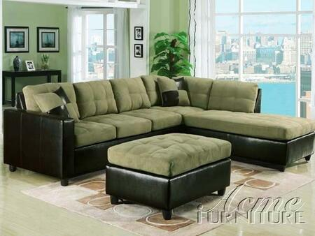 Acme Furniture 15208 Milano Series  Faux Leather Sofa