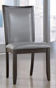 Ashley D55005 Trishelle Series Contemporary Faux Leather Wood Frame Dining Room Chair
