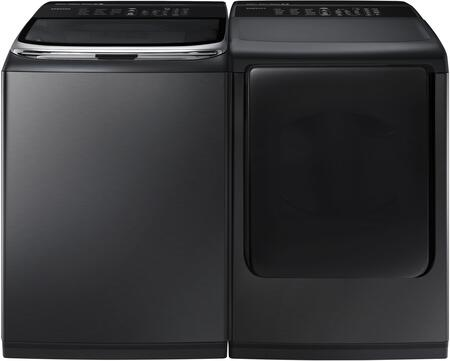 Samsung Appliance 690619 Black Stainless Steel Washer and Dr
