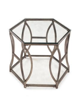 Magnussen T206008 Nevelson Series Modern Hexagonal End Table