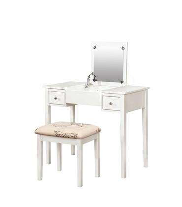 Linon 98135X-01-KD-U Vanity Set with Butterfly Bench: