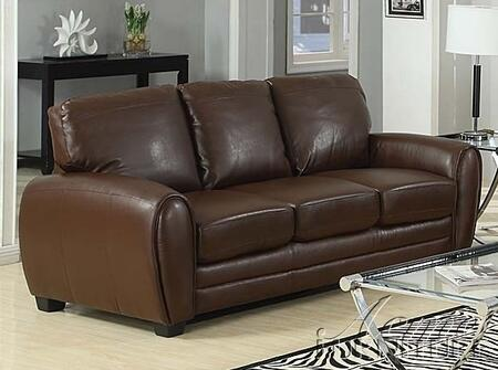 Acme Furniture 15243A Amber Series  Bonded Leather Sofa