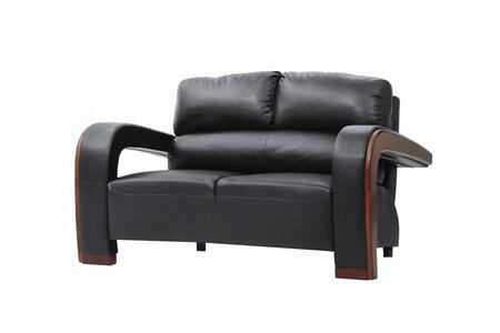 Glory Furniture G423L Faux Leather Stationary Loveseat